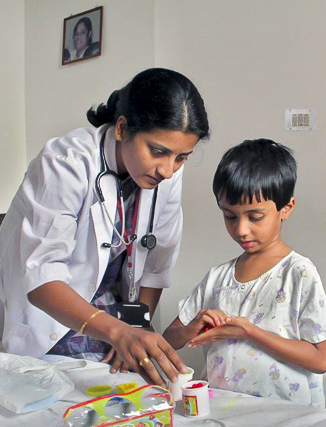 Healthcare Charities Inc Financial Contributions child doctor